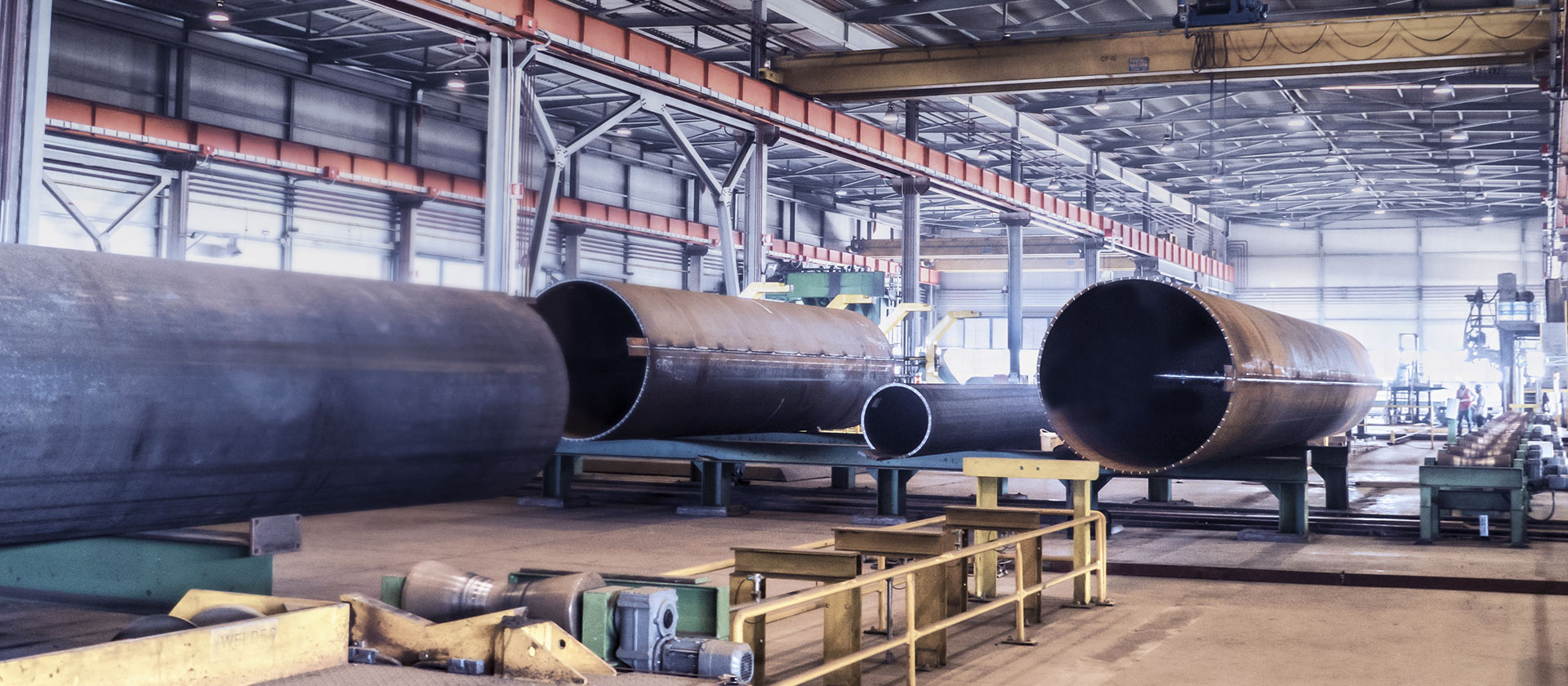 Cimolai - production of large diameter and thick pipes, welded and